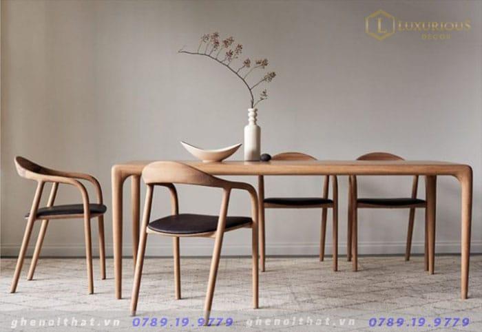 Bộ bàn Neva chair gỗ Sồi