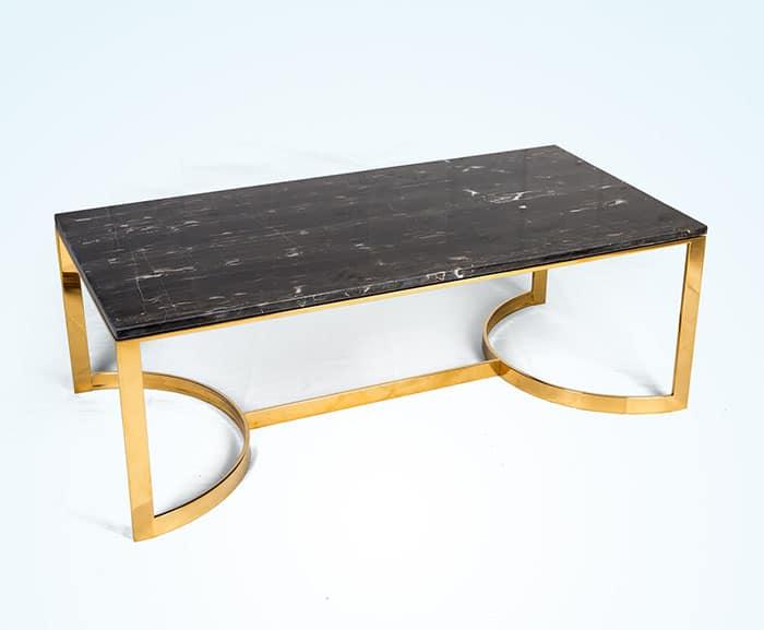 Chân bàn inox mạ vàng mặt đá