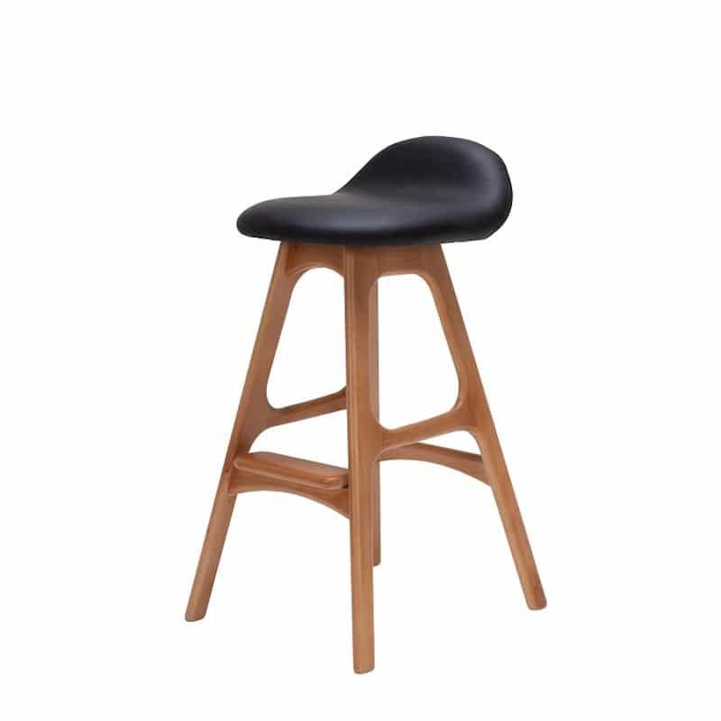 Ghế Bar cao gỗ đệm da