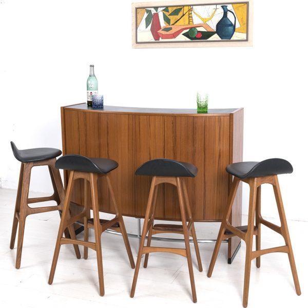 Ghế Bar gỗ cao su bọc da