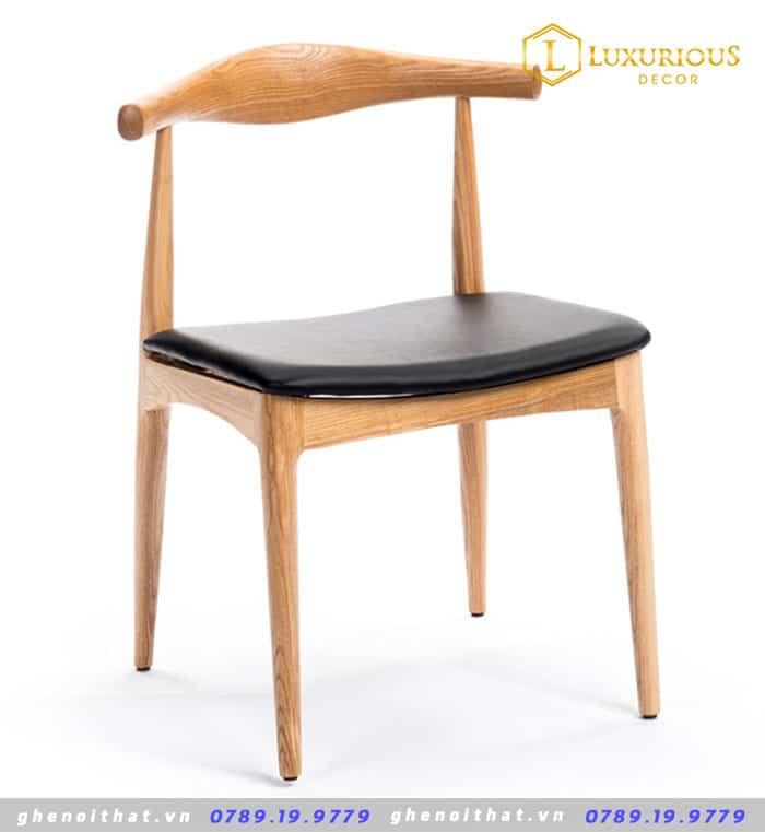 Ghế đầu bò gỗ Ash