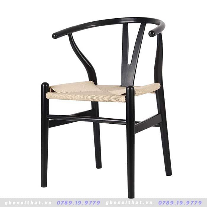 Ghế Wishbon dây đan gỗ sồi