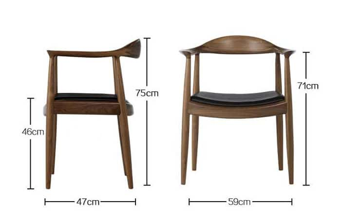 Kích thước ghế Kennedy tiêu chuẩn