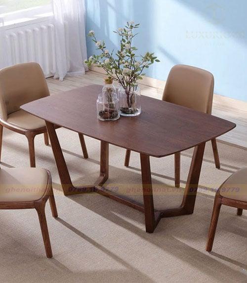Mẫu bàn ăn gỗ hiện đại