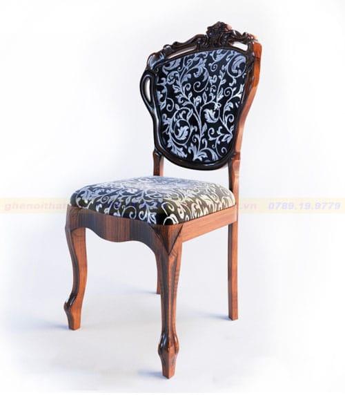 Mẫu ghế ăn gỗ Tân cổ điển