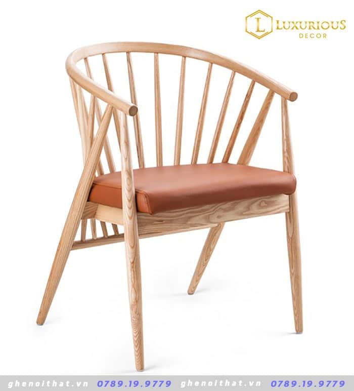 Mẫu ghế genny gỗ tự nhiên