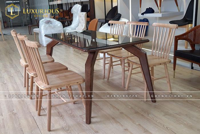Bộ bàn ghế ăn Pinnstol
