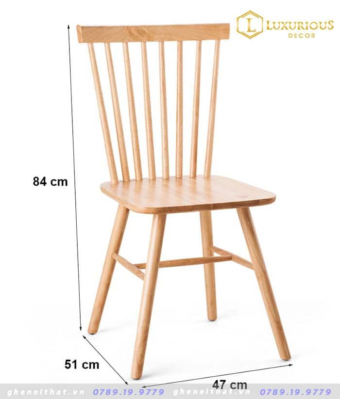 Ghế ăn gỗ tự nhiên Pinnstol