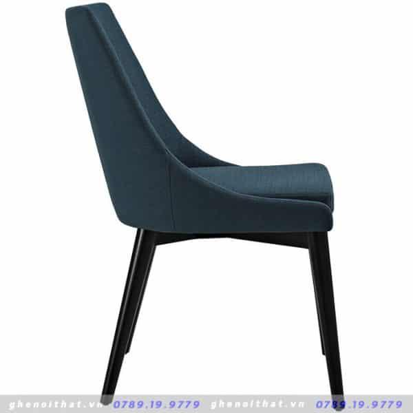 Mẫu ghế gỗ bọc da xanh