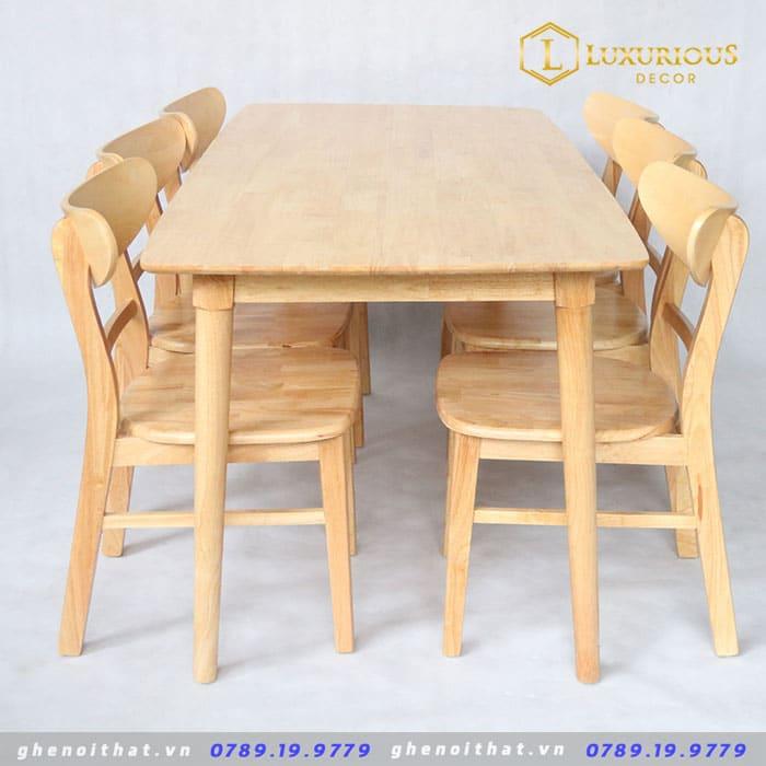 Bộ bàn ăn mango 4 ghế 1m2