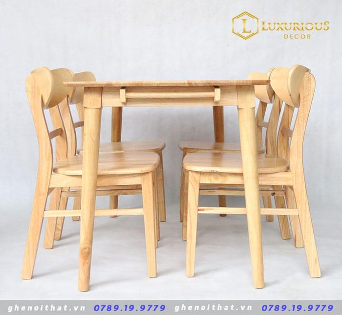 Combo bàn ăn 6 ghế gỗ ash