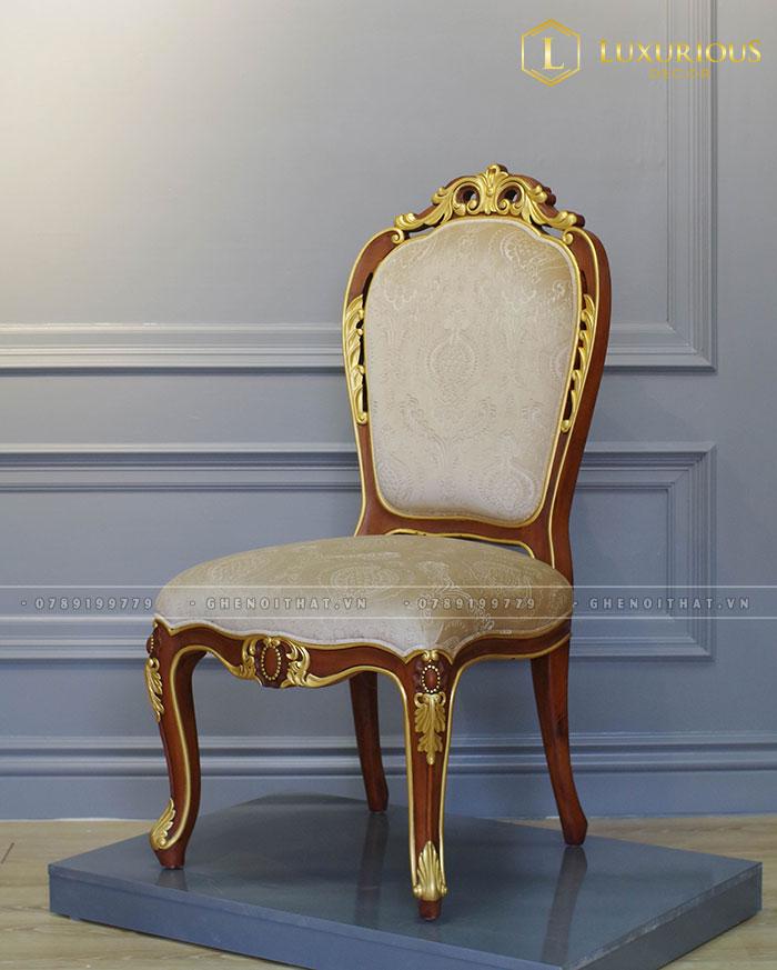 Ghế French gỗ dát vàng
