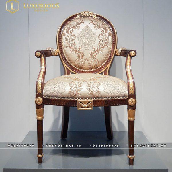 Ghế Louis XVI bọc nỉ gấm