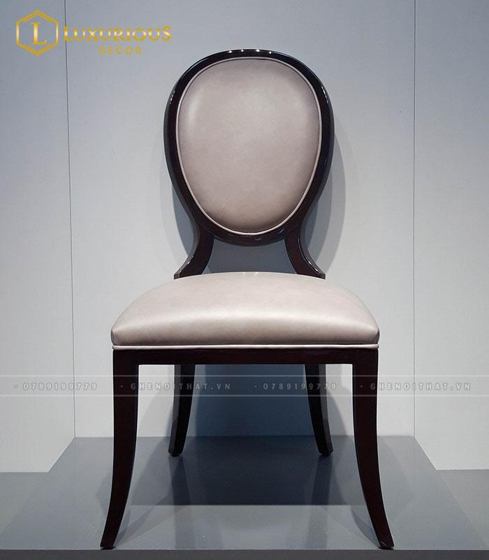 Mẫu ghế ăn tân cổ điển bọc da