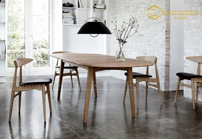 Ghế Lunar gỗ tự nhiên