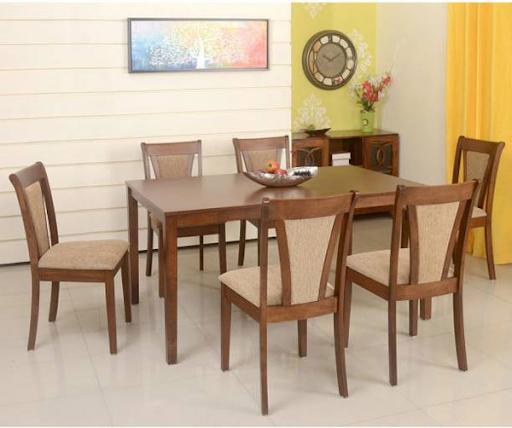 Bộ bàn ăn gỗ 6 ghế truyền thống