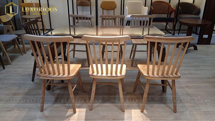 Ghế gỗ 7 nan thực tế