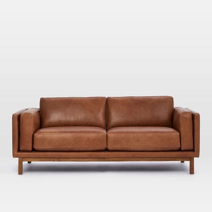 Ghế Tựa Sofa 2 Chỗ Đệm Da