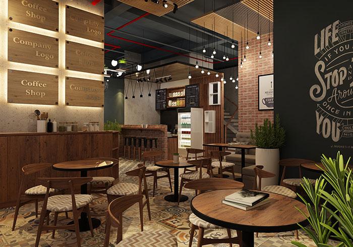 Thiết Kế Quán Cafe Ngay Trong Văn Phòng Làm Việc