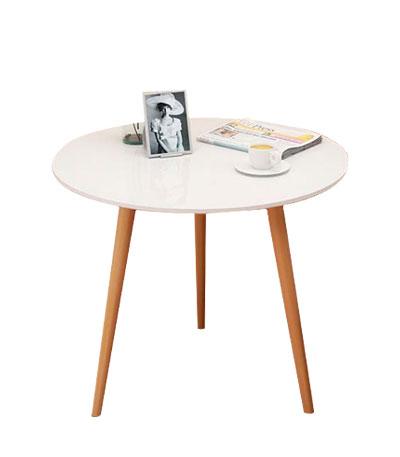 Bàn trà tròn 3 chân mặt gỗ