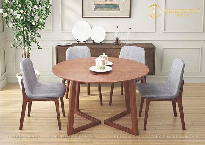 Bộ bàn ăn tròn 4 ghế Twist